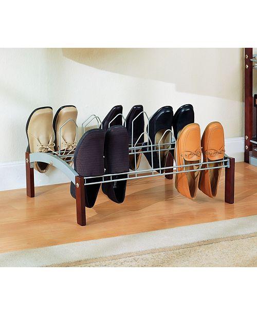 Organize it All 9 Pair Shoe Rack