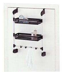 Organize it All Over-the-Door 2 Basket Unit with Hook