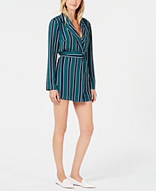 Rules of Etiquette Living Doll Striped Belted Romper