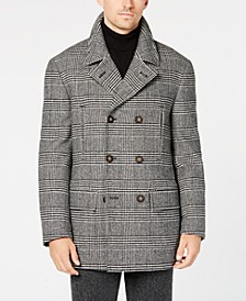 Men's Luke Classic-Fit Black/White Glen Plaid Peacoat