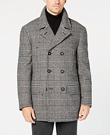 Lauren Ralph Lauren Men's Luke Classic-Fit Black/White Glen Plaid Peacoat