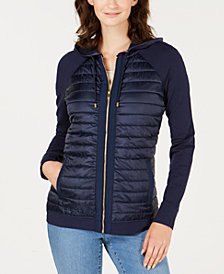 Charter Club Petite Hooded Quilted Bomber Jacket, Created for Macy's