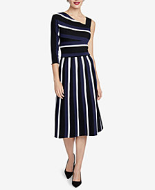 RACHEL Rachel Roy Clara Striped Asymmetrical Dress, Created for Macy's