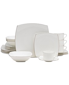 Couture Platinum 20-Pc. Dinnerware Set, Service for 4
