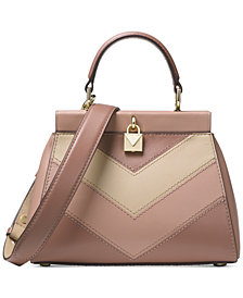 MICHAEL Michael Kors Gramercy Chevron Frame Top Handle Satchel