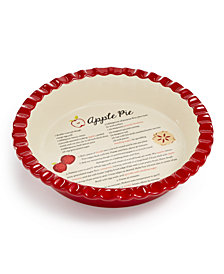 Martha Stewart Collection Ceramic Apple Pie Dish, Created for Macys