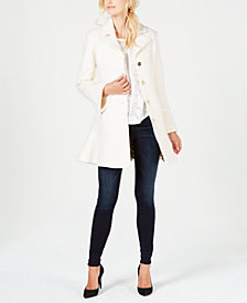 Laundry by Shelli Segal Skirted Boucle Wool-Blend Single-Breasted Coat