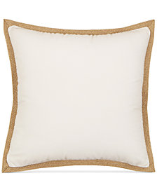 "Hallmart Collectibles Jute Flange 20"" Square Decorative Pillow"