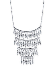 "I.N.C. Silver-Tone Crystal Statement Necklace, 15"" + 3"" extender, Created for Macy's"