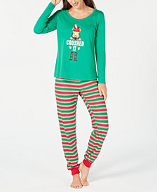 Matching Family Pajamas Women's Crushed It Stripe Pajama Set, Created For Macy's