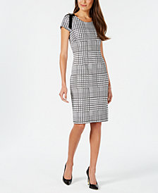 Ivanka Trump Plaid Sheath Dress