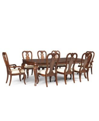 Bordeaux 9 Piece Dining Room Furniture Set Created For Macys Table 6 Queen Anne Side Chairs 2 Arm