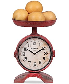 Metal 2-Sided Scale Shaped Clock