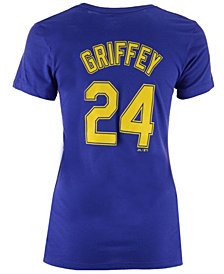 Majestic Women's Ken Griffey Jr. Seattle Mariners Crew Player T-Shirt