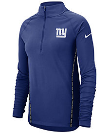 Nike Women's New York Giants Element Core Quarter-Zip Pullover