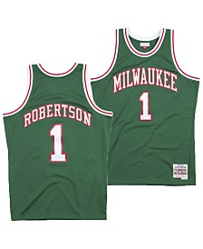 Mitchell & Ness Men's Oscar Robertson Milwaukee Bucks Hardwood Classic Swingman Jersey