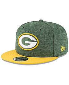 New Era Green Bay Packers On Field Sideline Home 9FIFTY Snapback Cap
