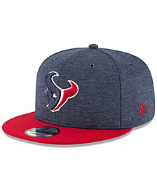 New Era Houston Texans On Field Sideline Home 9FIFTY Snapback Cap