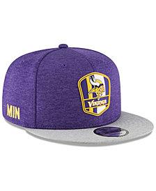 New Era Minnesota Vikings On Field Sideline Road 9FIFTY Snapback Cap