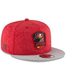 New Era Tampa Bay Buccaneers On Field Sideline Road 9FIFTY Snapback Cap