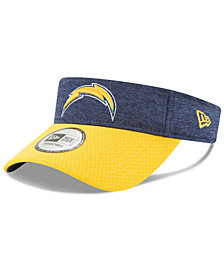 New Era Los Angeles Chargers On Field Sideline Visor