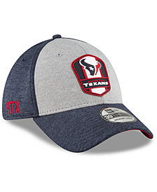 New Era Houston Texans On Field Sideline Road 39THIRTY Stretch Fitted Cap