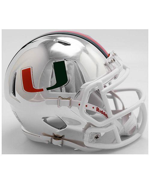 744117671775a Riddell Miami Hurricanes Speed Chrome Alt Mini Helmet - Sports Fan ...