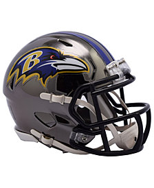 Riddell Baltimore Ravens Speed Chrome Alt Mini Helmet