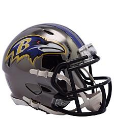 Riddell Baltimore Ravens Speed Chrome Alt Mini Helmet