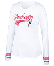 Top of the World Women's Ohio State Buckeyes Sleeve Stripe Long Sleeve T-Shirt