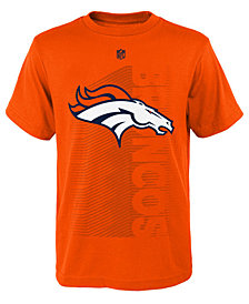 Outerstuff Denver Broncos Poly Jump Speed T-Shirt, Big Boys (8-20)