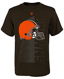 Outerstuff Cleveland Browns Poly Jump Speed T-Shirt, Big Boys (8-20)