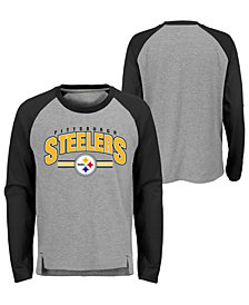 Outerstuff Pittsburgh Steelers Audible Long Sleeve T-Shirt, Big Boys (8-20)