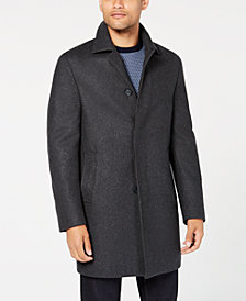 DKNY Men's Slim-Fit Darcy Graphite Overcoat