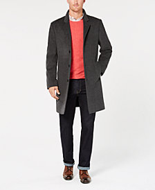 Michael Kors Men's Madison Wool-Blend Modern-Fit Overcoat
