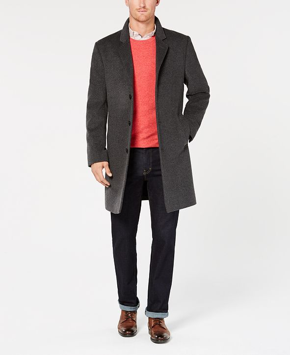 Michael Kors Michael Kors Men's Madison Luxury Italian Fabric Modern-Fit Overcoat