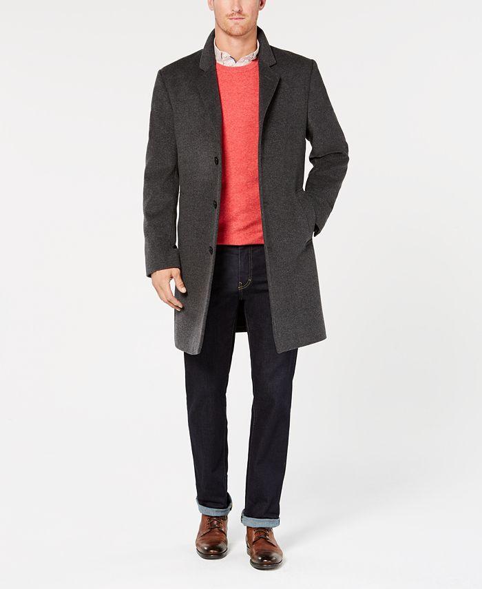 Michael Kors - Coat, Modern-Fit Madison Luxury Italian Fabric Overcoat