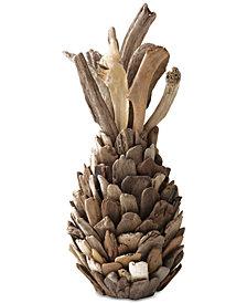3R Studio Round Driftwood Pineapple Decoration