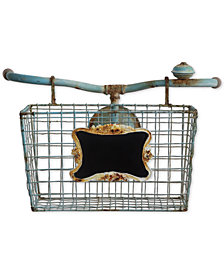 Tin Open Weave Bike Basket Wall Décor
