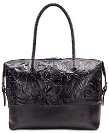 Patricia Nash Saluzzo Embossed Leather Overnight Weekender