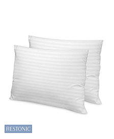 Restonic 2 Pack Luxury 500 TC Memory Fiber Pillow Collection