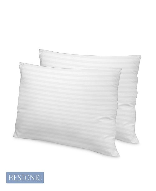 Restonic 2 Pack Luxury 500 Thread Count Tencel Memory Fiber Pillow Collection