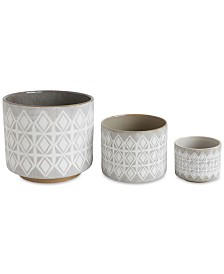 Stoneware Pots, Set of 3
