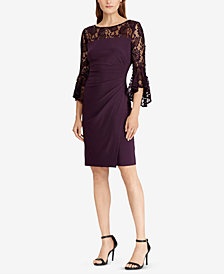 Lauren Ralph Lauren Petite Lace-Yoke Dress