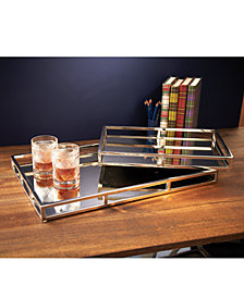 Princeton Set of 2 Rectangle Mirrored Gallery Trays Includes 2 Sizes