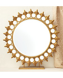 Two's Company Sun Mirror on Pedestal