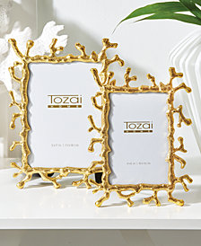 Golden Coral Set of 2 Photo Frames in Gift Box Includes 2 Sizes