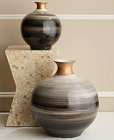Spheres Set of 2 Gold Neck Vases