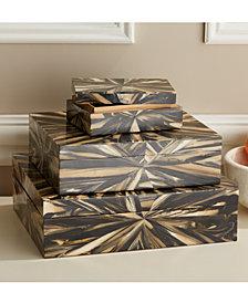 Natural Palette Set of 3 Faux Petrified Wood Boxes