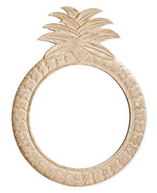 Hand Carved Pineapple Wall Mirror